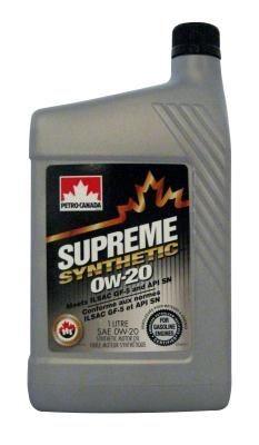 Масло Petro-Canada Supreme Syntetic 0W-20