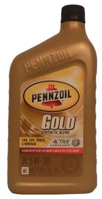Масло Pennzoil Gold SAE Synthetic Blend Motor Oil 5W-30