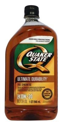 Масло моторное Quaker State Ultimate Durability SAE 0W-20 Full Synthetic Motor Oil