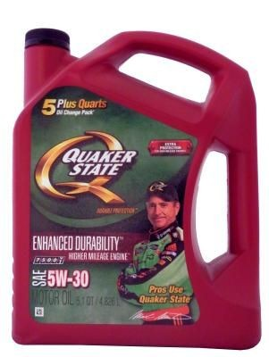 Quaker State Enhanced Durability Higher Mileage Engine SAE 5W-30 Motor Oil