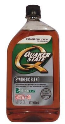 Масло Quaker State 5W-30 Synthetic Blend Motor Oil