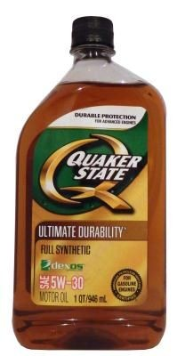 Масло Quaker State Ultimate Durability SAE 5W-30 Full Synthetic Motor Oil