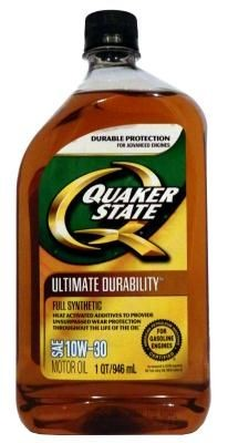 Масло моторное Quaker State Ultimate Durability SAE 10W-30 Full Synthetic Motor Oil