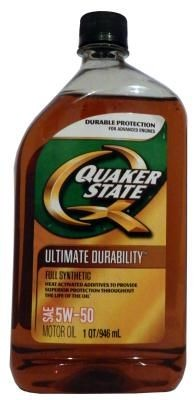 Масло Quaker State Ultimate Durability SAE 5W-50 Full Synthetic Motor Oil