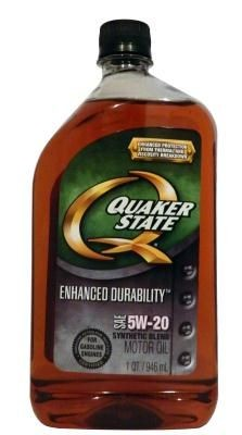Масло Quaker State Enhanced Durability SAE 5W-20 Synthetic Blend Motor Oil