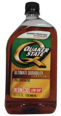 Масло моторное Quaker State Ultimate Durability European L Full Synthetic 5W-30 Motor Oil