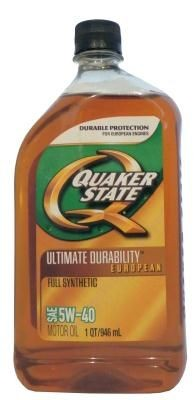 Масло моторное Quaker State Ultimate Durability European Full Synthetic 5W-40 Motor Oil