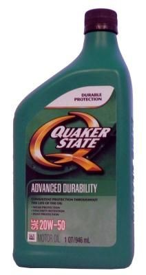 Масло Quaker State Advanced Durability SAE 20W-50 Motor Oil