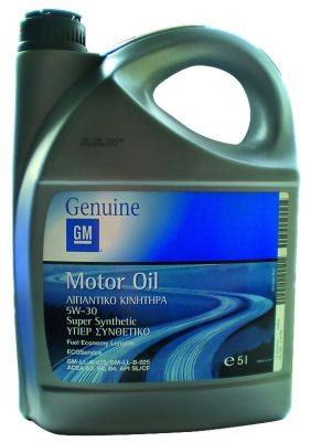 General Motors Motor Oil Fuel Economi Super Longlife Synthetic