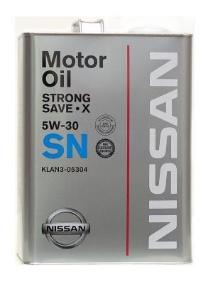 Масло Nissan SN Strong Save X SAE 5W-30