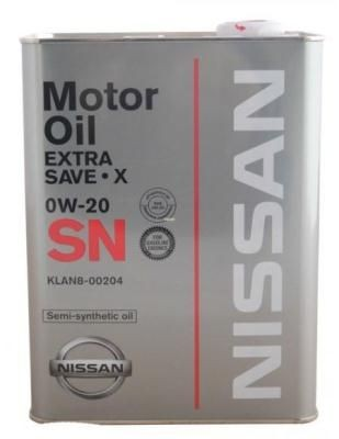 Масло Nissan SN Extra Save X SAE 0W-20